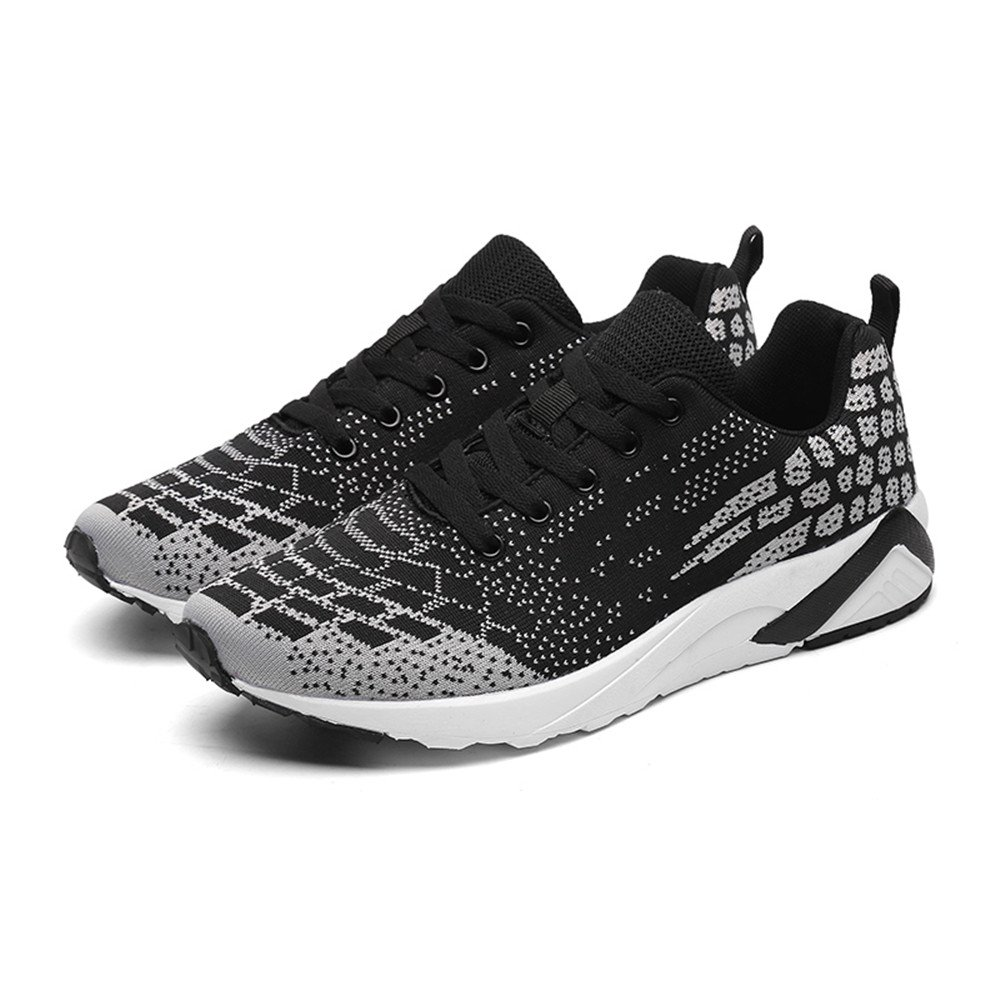 DADAZE Mens Casual Sports Shoes Lightweight Knit Breathable Running Sneakers B07B4XYPXC EU44/10 D(M) US|Black