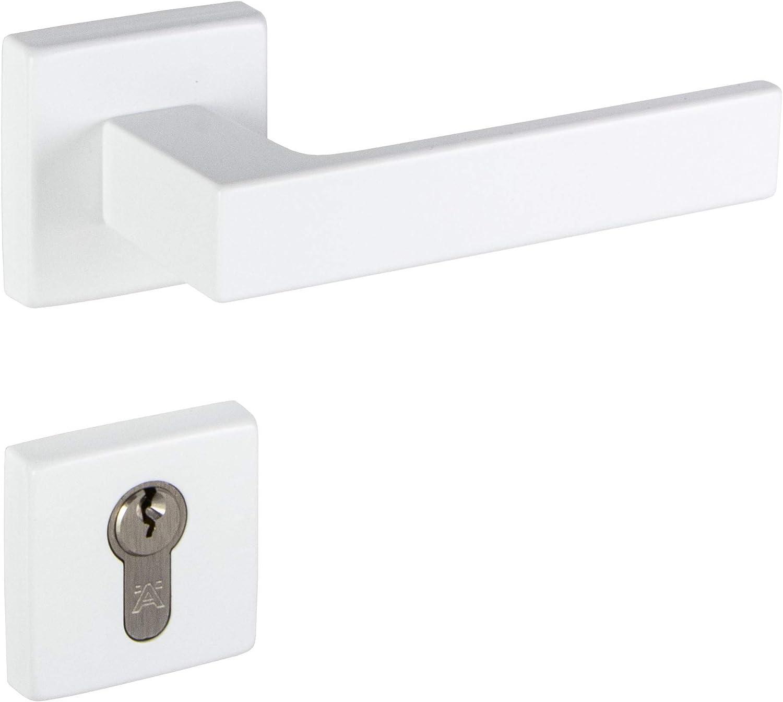 Picaporte para puerta de interior color blanco mate aluminio Gedotec PUSH 1317 Blanco