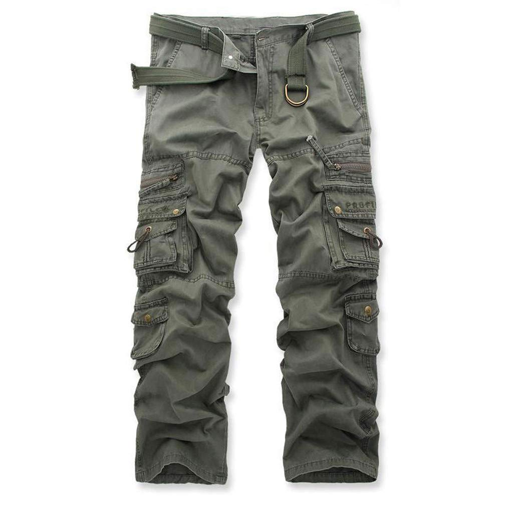 Allywit Casual Military Pants, Cotton Camo Tactical Wild Combat Cargo Sport Pleated Multi Zipper Pockets Trousers Plus Size by Allywit-Pants (Image #2)