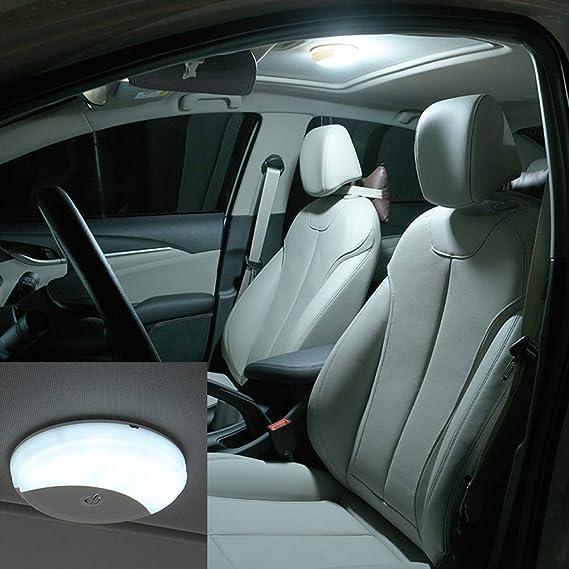 Auto Deckenleuchte Led Dach Lichter Kabellose Usb Aufladbar Mit Magnetisch Suck Für Innen Leselicht Auto Universal Weißes Licht Blaues Licht Auto