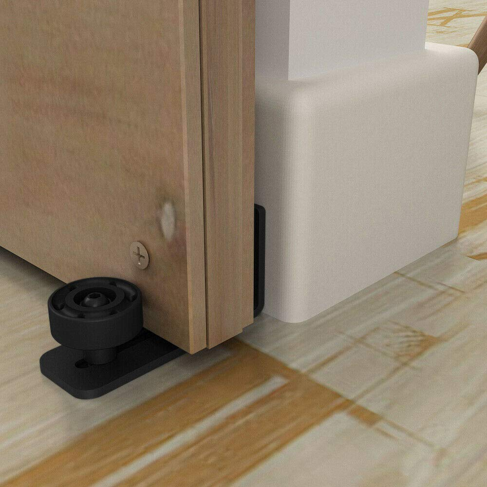 2 Pack Scratch Resistant Stainless Steel Flush Mount Stay Roller Wall Mount Floor Guide for Door Thick Up to 2 1//8 inches TY