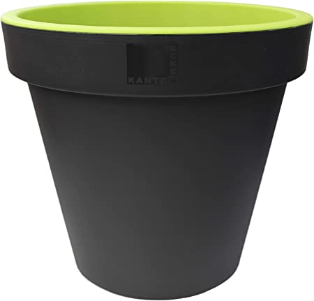 Bright Coloured Plant Pots Extra Large Planters Massive 47cm Diameter Green Amazon Co Uk Garden Outdoors