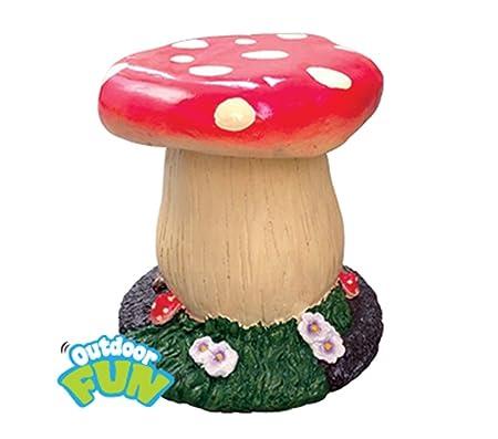 Wonderful Kids Mushroom Garden Stool Children Toadstool Seat Furniture Indoor Outdoor  New