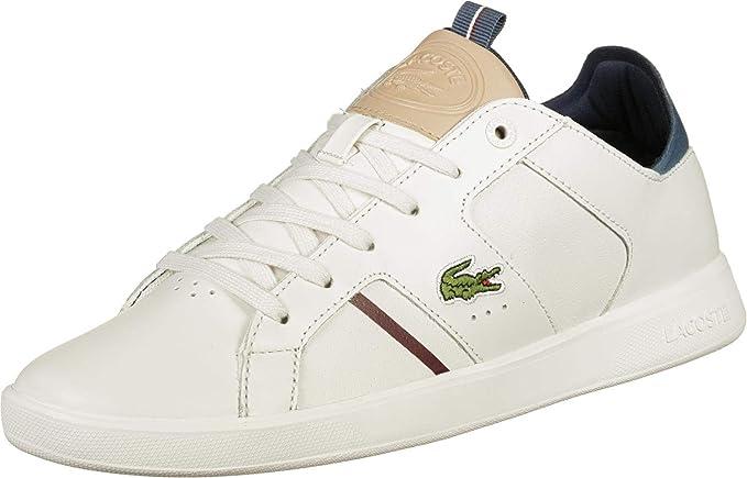 80d3b9611e1b Lacoste Men s Trainers White White White Size  40 EU  Amazon.co.uk ...