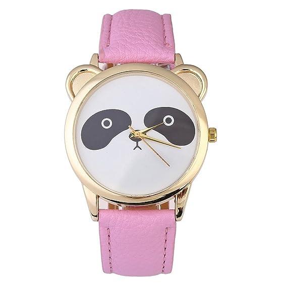 Uhren Armbanduhr Damen Mode Lieblich Panda frauen Muster Damenuhr W9H2IDEY