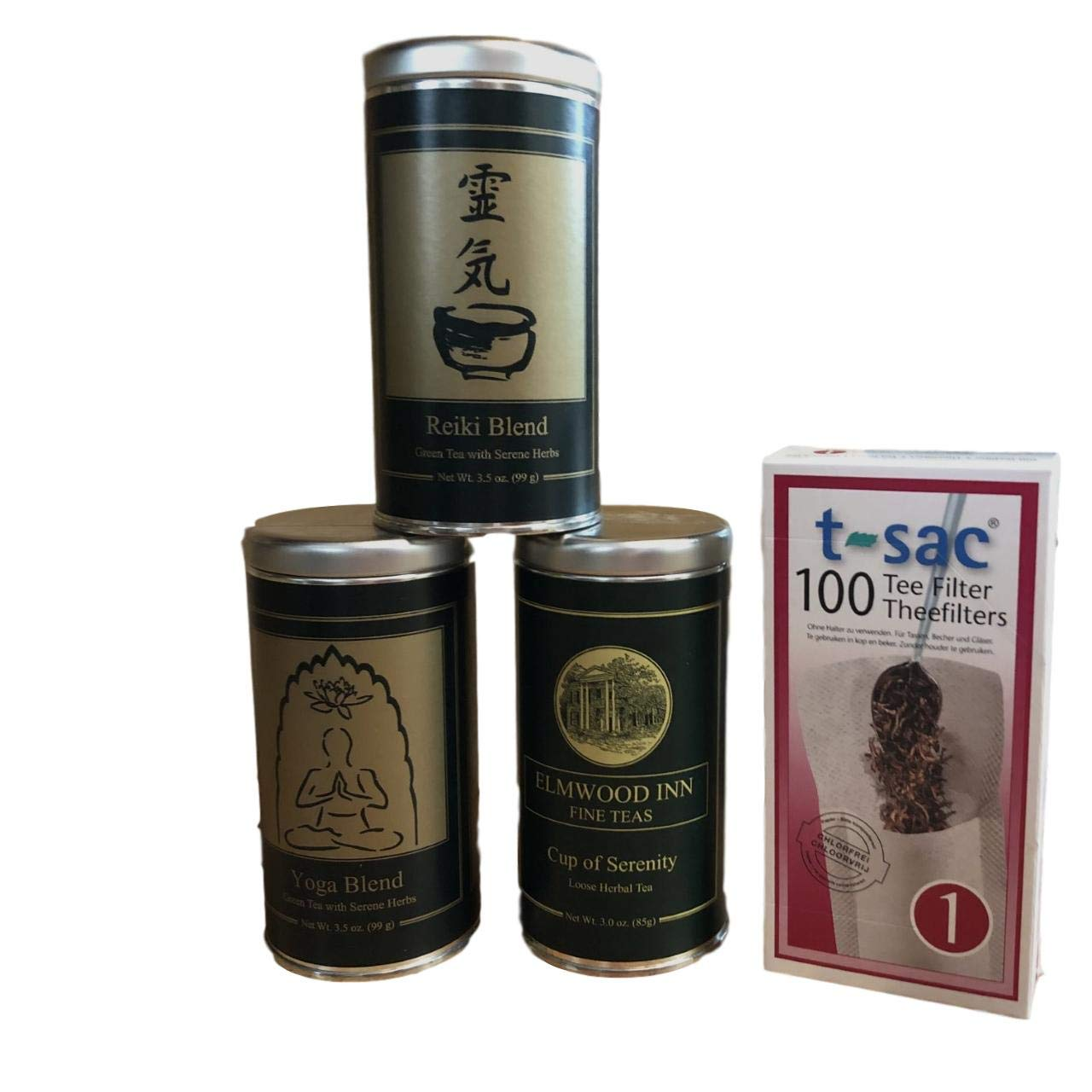 Amazon.com : Cup of Wellness Tea Bundle of 3 Tins and 100 T ...