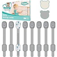 HOMYBABY® Kit Seguridad Bebe [8pcs]   Cerraduras de Seguridad Niños   Adhesivo 3M extra fuerte   Cierre Seguridad…