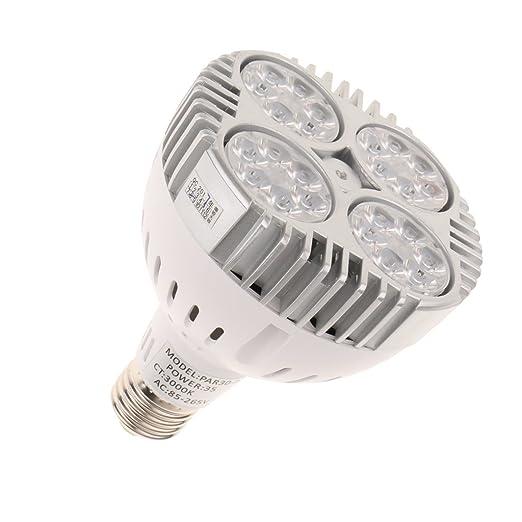Magideal E27 foco lámpara LED proyector LED 35 W 3000 K bombilla ...
