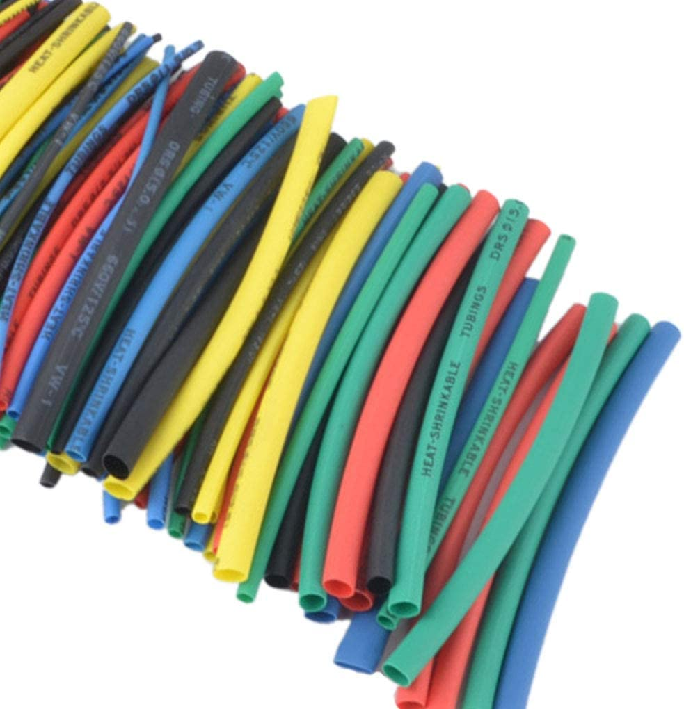 raogoodcx 180pcs termorretr/áctil tubo 1,5/mm 2,5/mm 3/mm 4/mm 5/mm 6/mm 8/mm 10/mm retardante de llama resistente tubo Sleeving Wrap Wire Kit de cables