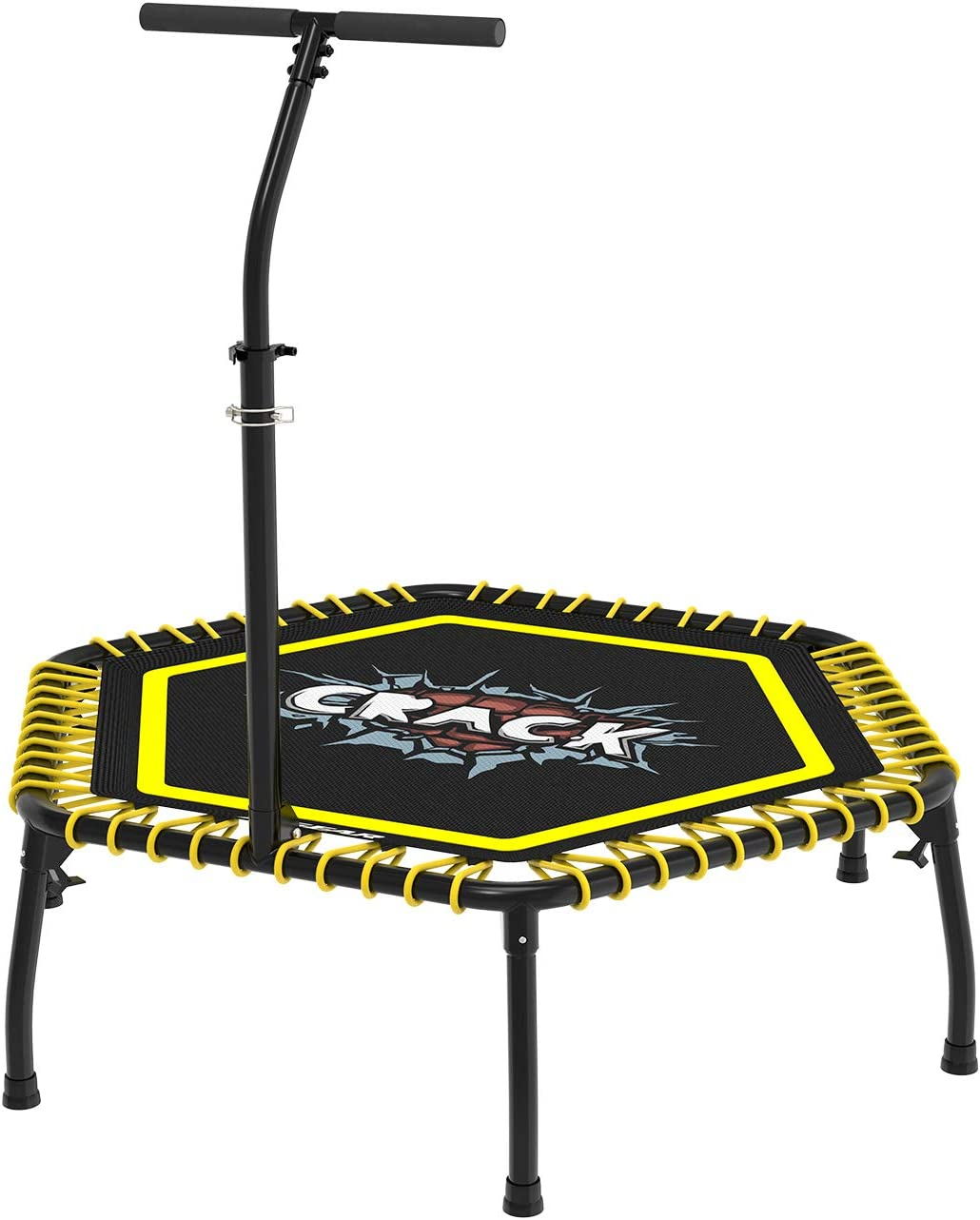 Durable Mat XGEAR Mini Fitness Trampoline Jumping Cardio Trainer Workout Portable Sports Trampoline Indoor Outdoor Workout,Max Limit 330 lbs Aluminum Frame Quiet and Safe Bounce