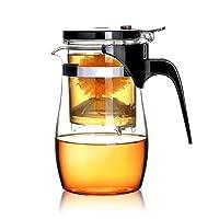 BOCHA Glas Teekanne mit eingebautem Infuser und herausnehmbarem Filter, Lose Blätter Teebereiter