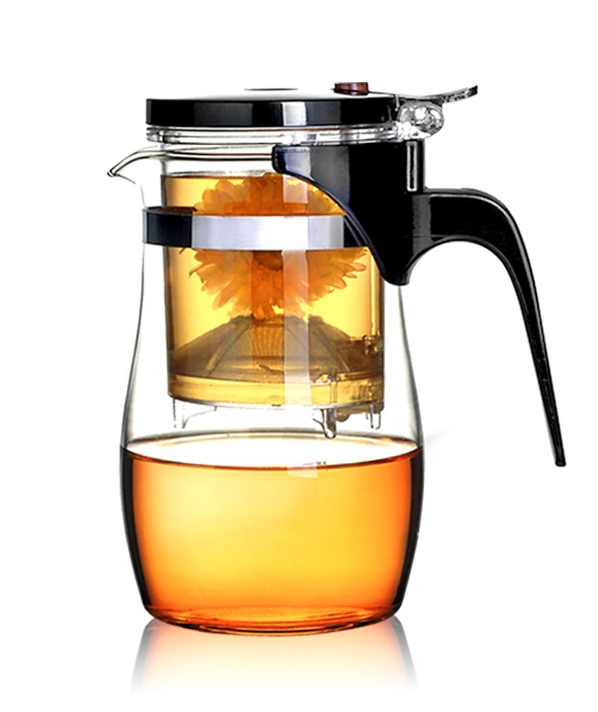 BOCHA Loose Leaf Tea Maker with Glass Teapot, Built in Infuser and Removable Filter - 800ml