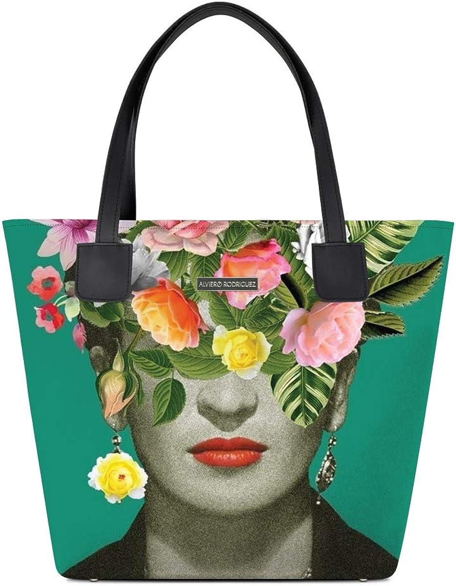 Donna Alviero Rodriguez Shopper Deluxe Frida Flowers Arte