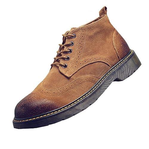 NXY De los Hombres Ante Desierto Botas Lace Up Botines Casual Zapatos Brogue: Amazon.es: Zapatos y complementos