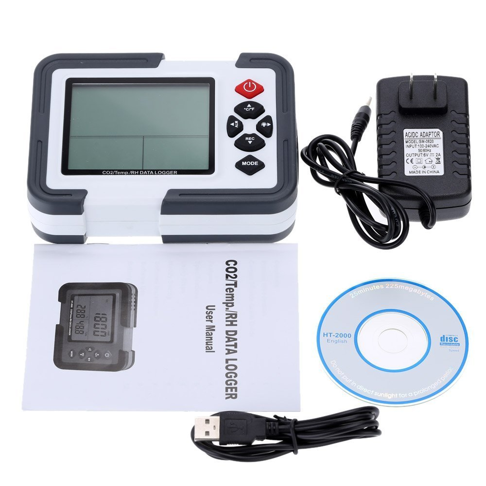 RockFire Professional Digital Temperature Humidity Analyzers CO2 Carbon Dioxide Data Logger Detector Gas Analyzers by RockFire®