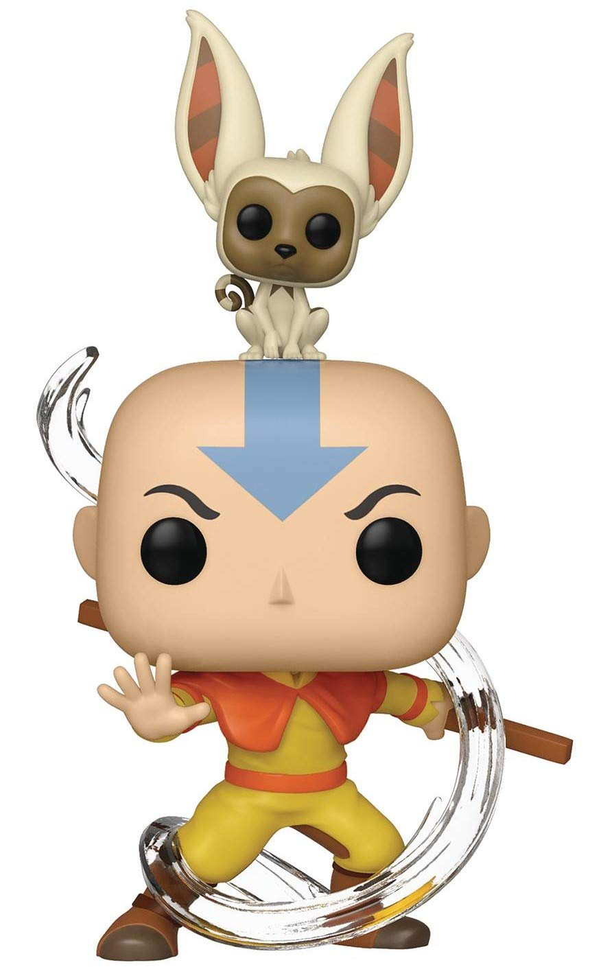 Aang with Momo Pop Funko Avatar: The Last Airbender Includes Compatible Pop Box Protector Case Vinyl Figure