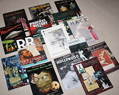 TV & Movie PROPS & COSTUMES Auction Catalogs ( 15), CD Reference Prices Pix, FREE SHIP to lower 48
