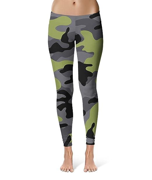 Dark Camouflage Sport Leggings Full Length