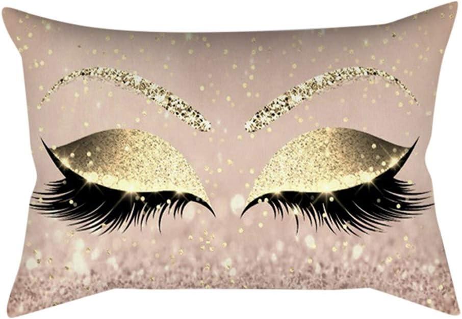 50cm Smilikee Eyelash Home Pillow Case Decorative Eyelash Soft Velvet Cushion Cover 30