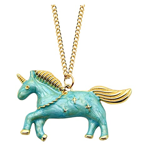 Amazon.com: Collar de unicornio con colgante de estrella de ...