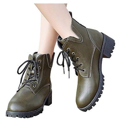 Berimaterry Zapatos de Cordones Brogue para Mujer Botas Nieve ...