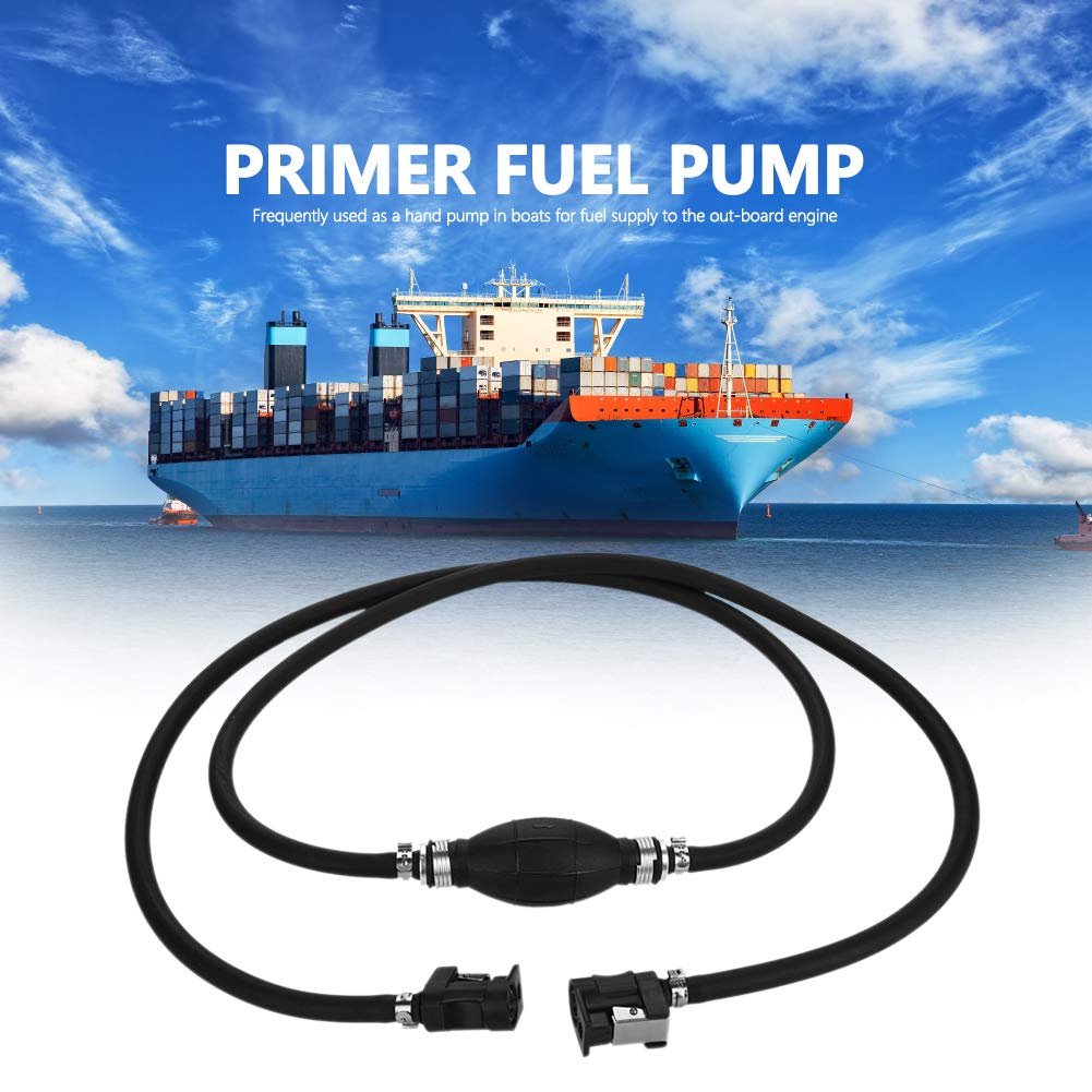 Complete Universal Fuel Line Hose Kit with Hose Fitting Engine End For Yamaha Marine Boat Tractor