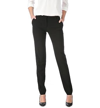 Promod Elegante Damen-Hose Schwarz 46  Amazon.de  Bekleidung 9e4037f742