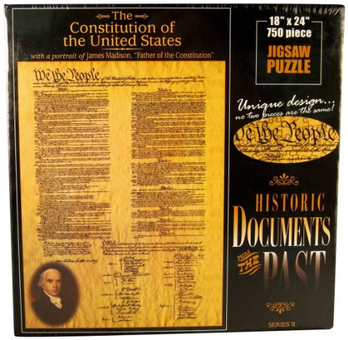 American Documents The Constitution of The United States Jigsaw Puzzle, (Social Studies Puzzles)