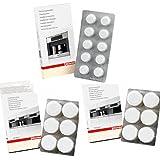 Miele Lot de 12 tablettes anti-calcaire + 10 tablettes de nettoyage