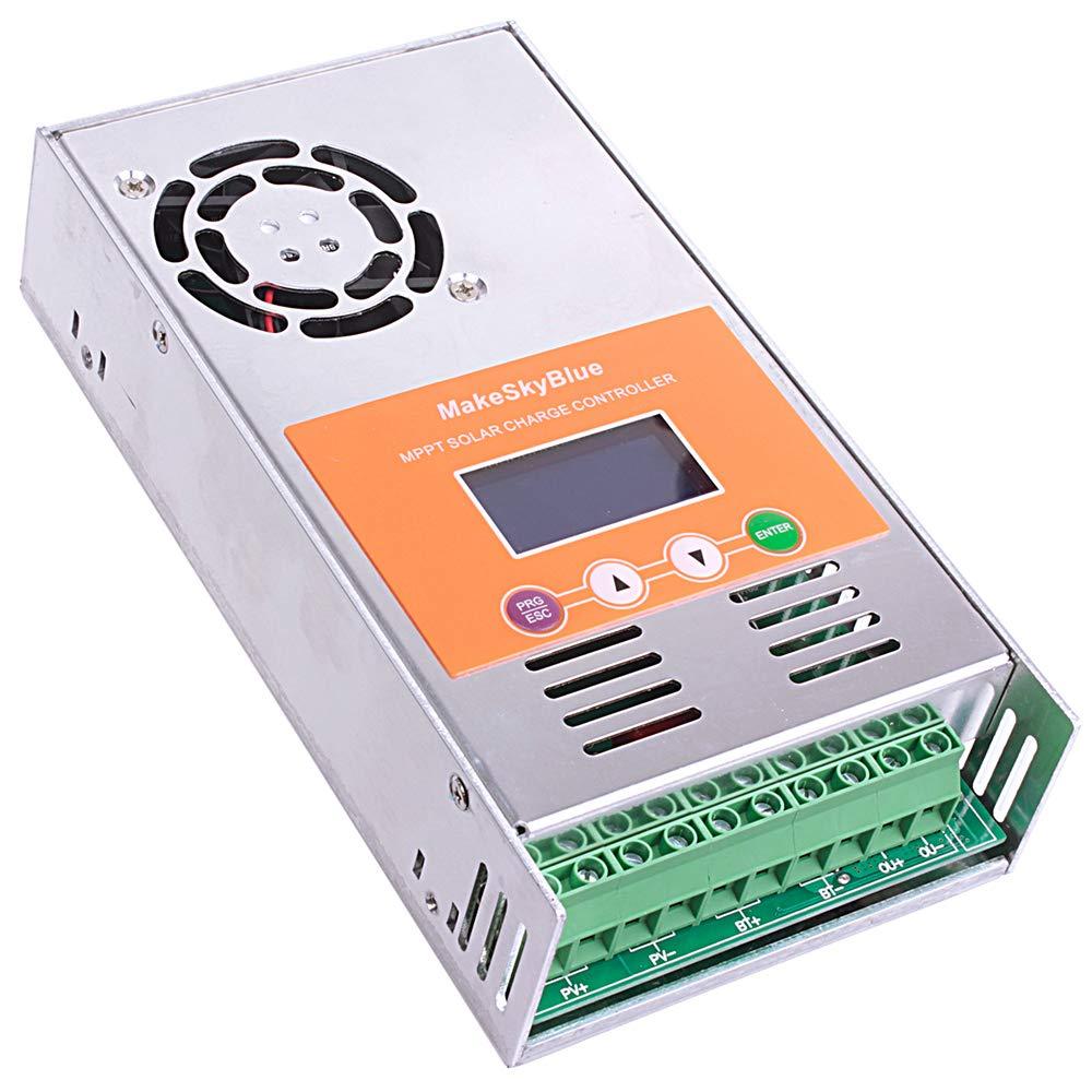 MakeSkyBlue MPPT Solar Charge Controller 60A Current Charge Regulator for 12V 24V 36V 48V Acid Gel Sealed Flooded Lithium Batteries LCD Display Maximum PV 2800W by MakeSkyBlue (Image #3)