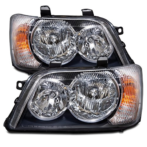 toyota-highlander-black-housing-headlight-headlamp-driver-passenger-pair-new