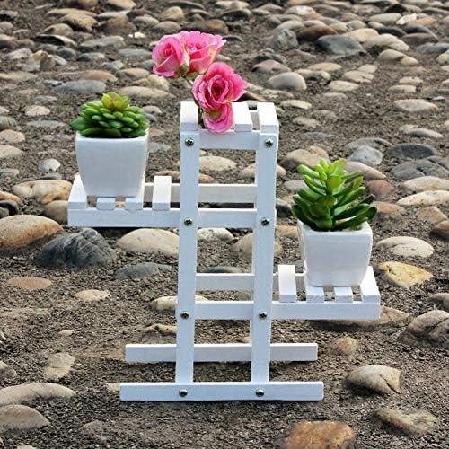 Okngr Houten Plant Stand 3 Tier Bloem Display Rek Stand Buiten Bloemenrek Proofing Bloempot Houder voor Tuin Patio Balkon Slaapkamer Office 23721cm
