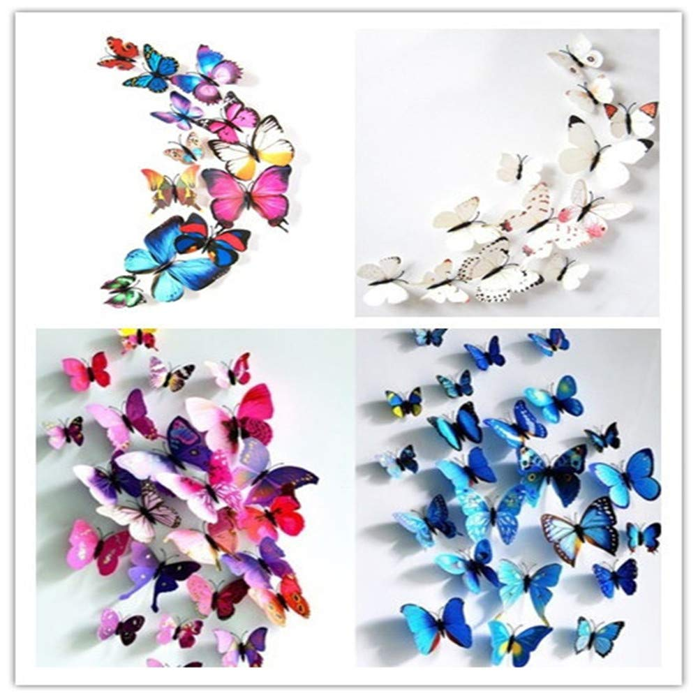 12 Pieces 3D Butterfly Design Decoration Art Wall Stickers Room Magnetic Home Decor (Multicolor) by Caslia (Image #3)