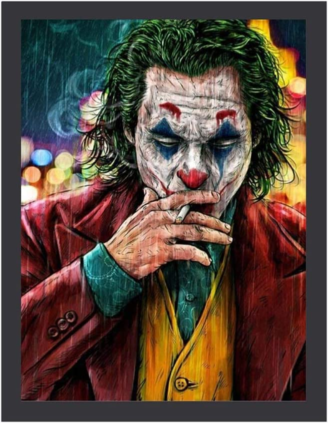 Joker Smoking Posters Canvas Prints Wall Art Decor Framed Print | 16x20/12x16 | Canvas Pictures Print Artwork for Home Bedroom Decoration