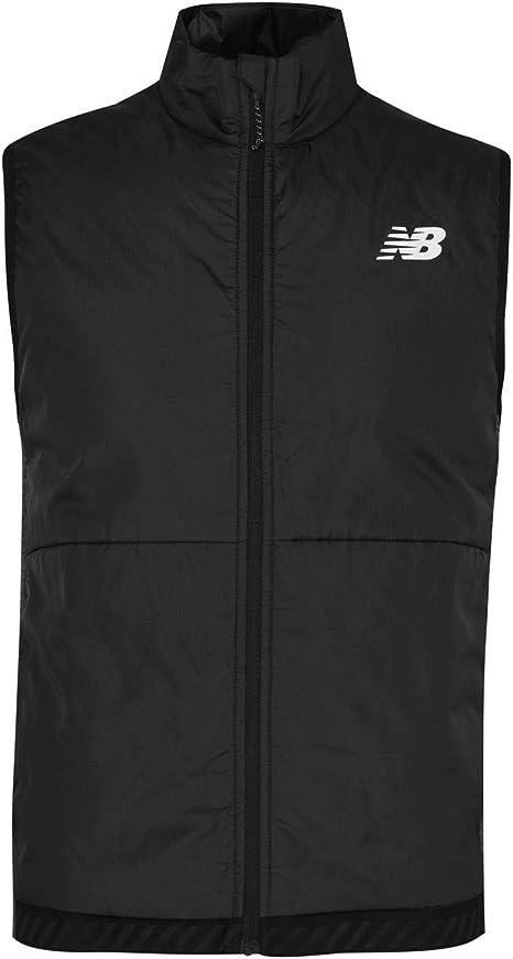 New Balance Mens Run Gilet Performance Sleeveless Jacket Dk Grey L ...