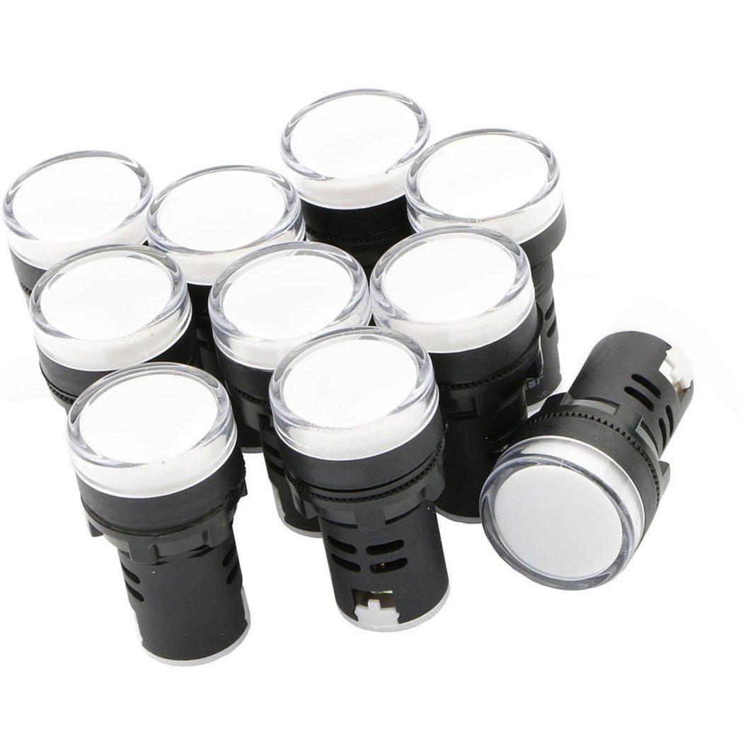 White LED Pilot Light Panel Indicator 24V 10pcs