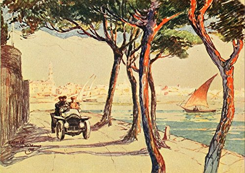 - Italian highways and byways from a motor car 1909 Rapallo Poster Print by Blanche McManus (24 x 36)