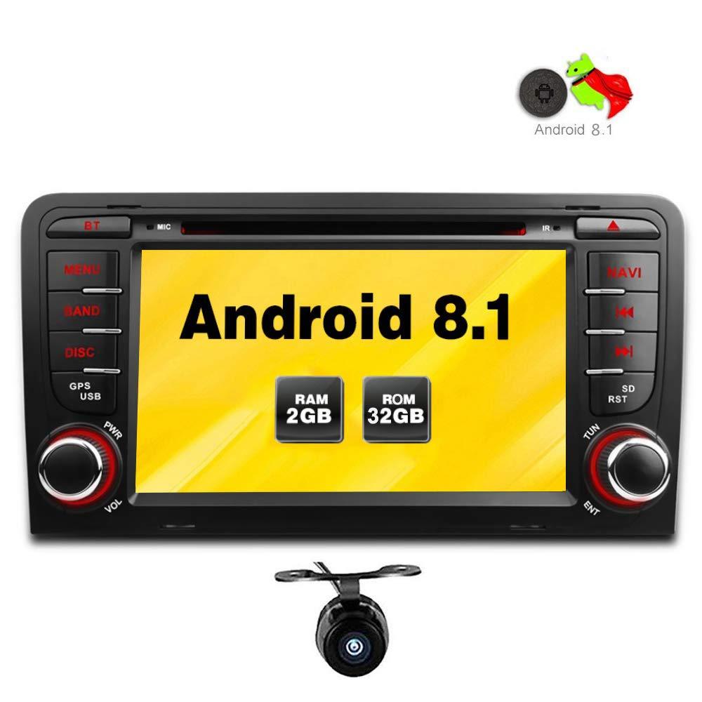 Freeauto per Audi A3//S3 17,8 cm sistema operativo Android 8.1 Quad Core autoradio con funzione mirroring /& OBD2