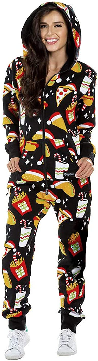 Pijama Completo de Mujer Tipo Mono con Impresos Navideños ...