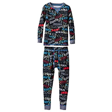 Amazon.com: Cuddl Duds Little Boys' Thermal Long Underwear Set (2T ...