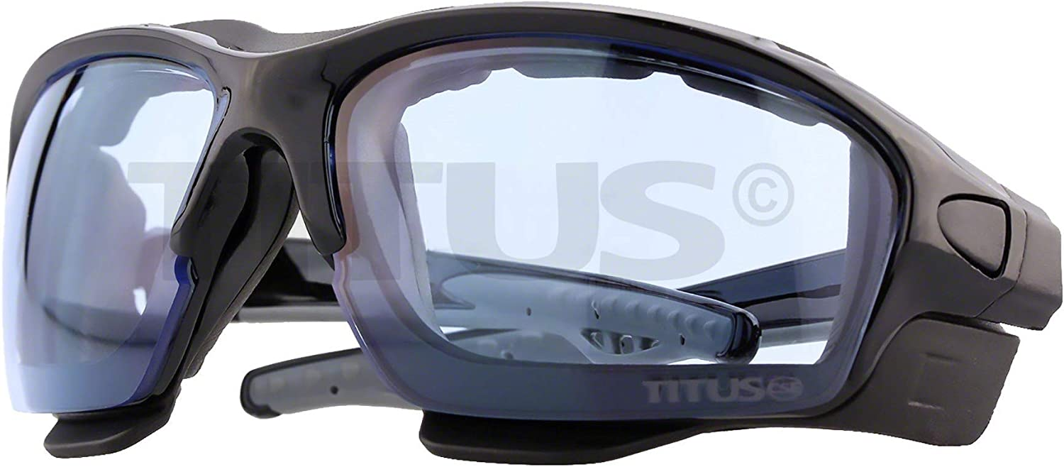 Convert to Glasses Interchangeable Padded Sport Goggles Titus G11 Z87 Rated