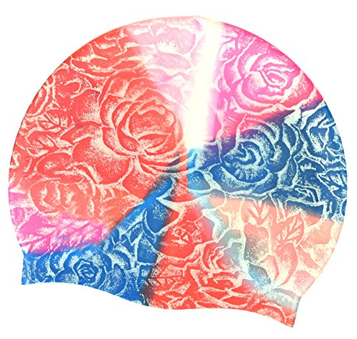 Professional Swim Cap for Swimmer Silicone Swim Hat for Short Hair Reduce Drag Speed Up for Professional Swimmer Keep Your Hair Dry Forever Energetic Color Pink Rose Cap