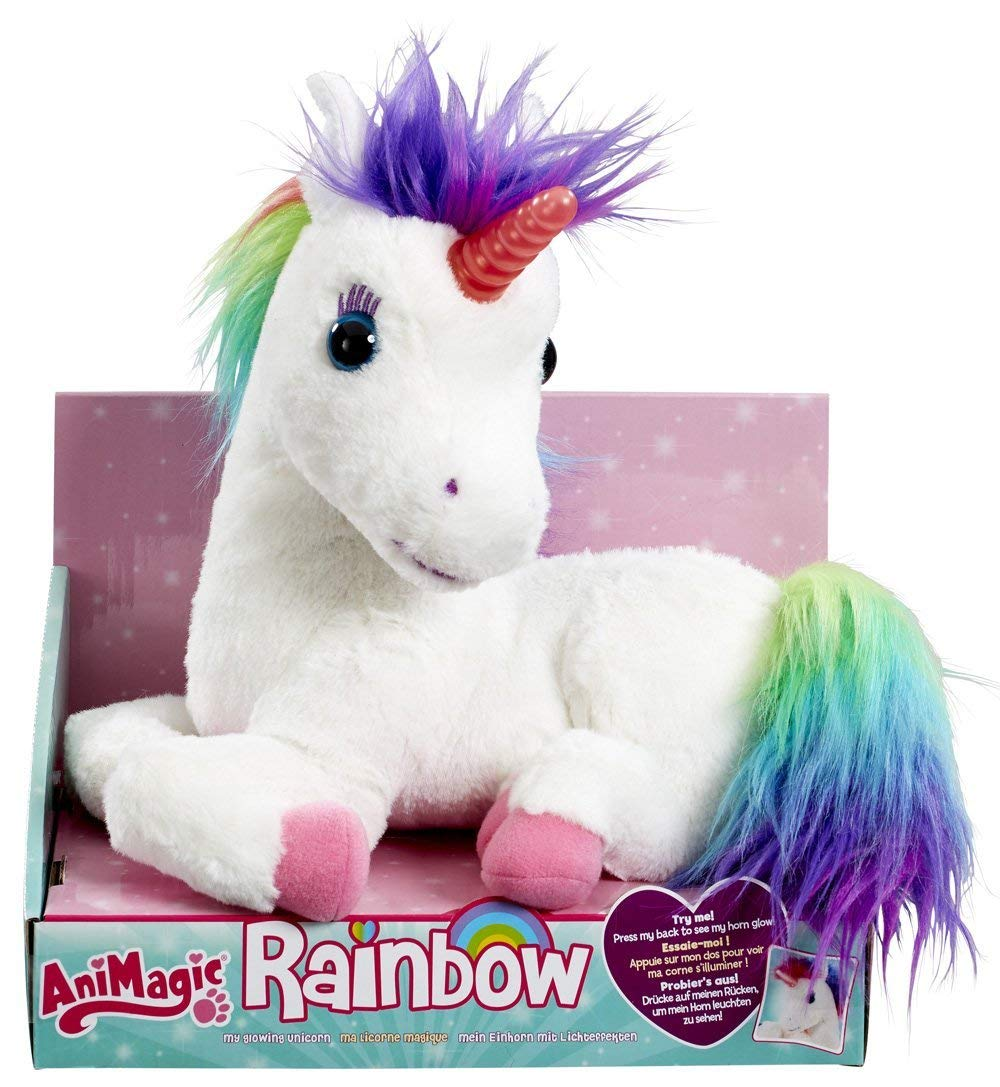 AniMagic Rainbow - My Glowing Unicorn, a Soft Unicorn Plush Toy with Glowing Horn and Unicorn Sounds 3