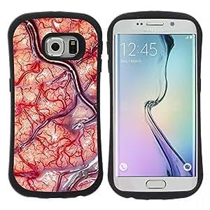 """Hypernova Slim Fit Dual Barniz Protector Caso Case Funda Para Samsung Galaxy S6 EDGE [Sangre Cirujano Biología Macro""""]"""