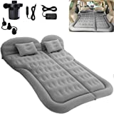 SAYGOGO SUV Air Mattress Camping Bed Cushion Pillow - Inflatable Thickened Car Air Bed with Electric Air Pump Flocking Surfac