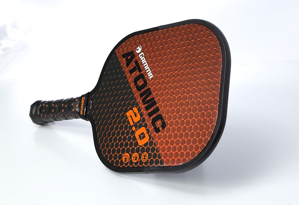 GAMMA Sports 2.0 Pickleball Paddles: Atomic 2.0 Pickleball Rackets - Textured Fiberglass Face - Mens and Womens Pickle Ball Racquet - Indoor and Outdoor Racket - Orange Pickle-Ball Paddle - 8 oz by Gamma