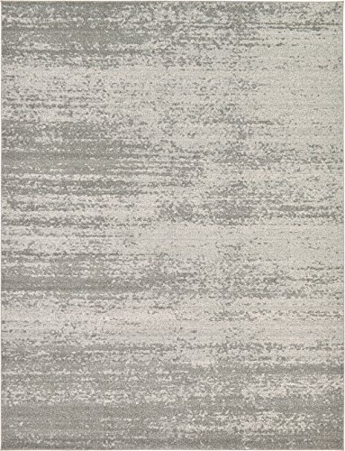 Over-dyed Modern Vintage Rugs Gray 9' x 12' FT Palma Collection Area Rug - Perfect for any Place