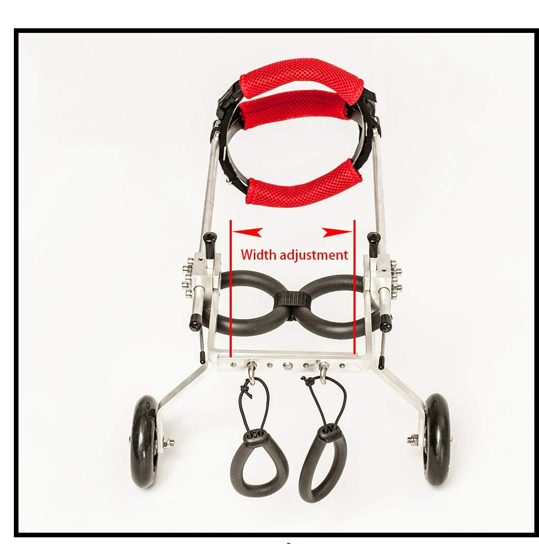 MXA Adjustable Portable pet Dog Wheelchair Medical Wheelchair Assistance Disability dogleg Walking Frame, Wheelchair Dogs hind Leg hind Limb Paralysis Disability Assistance Dog pet Scooter. by MXA