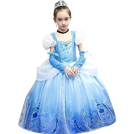 QYF 4 7 8 9 10 años Vestido de los niños Juego de Roles Traje de