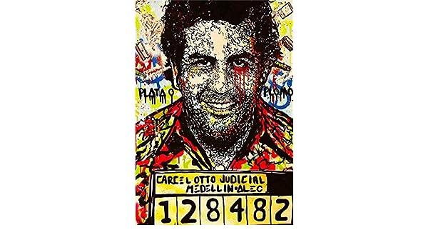 Artzhu-Alec Monopoly Pablo Escobar Graffiti Pintura al óleo pintada a mano sobre lienzos para sala de estar, arte abstracto moderno de pared #143: Amazon.es: Amazon.es